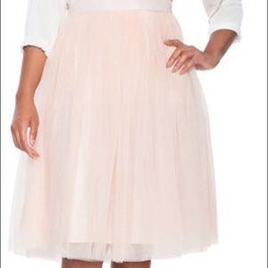 Eloquii Studio Tulle blush skirt